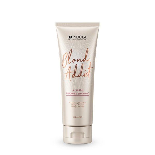 Indola Blond Addict Pink-Rose Shampoo 250ml millionbeautylooks